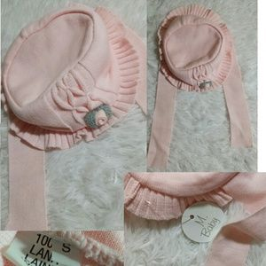 M. Baby Floral Embellished Tie Bucket Hat-Size S